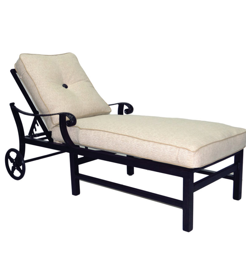 Cushioned chaise lounge brooks collier for Bellagio chaise lounge