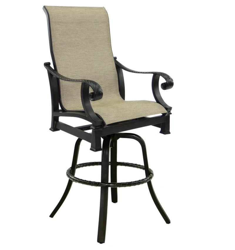 High Back Sling Swivel Bar Stool Brooks Amp Collier