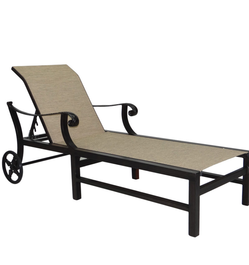 Sling chaise lounge brooks collier for Bellagio chaise lounge
