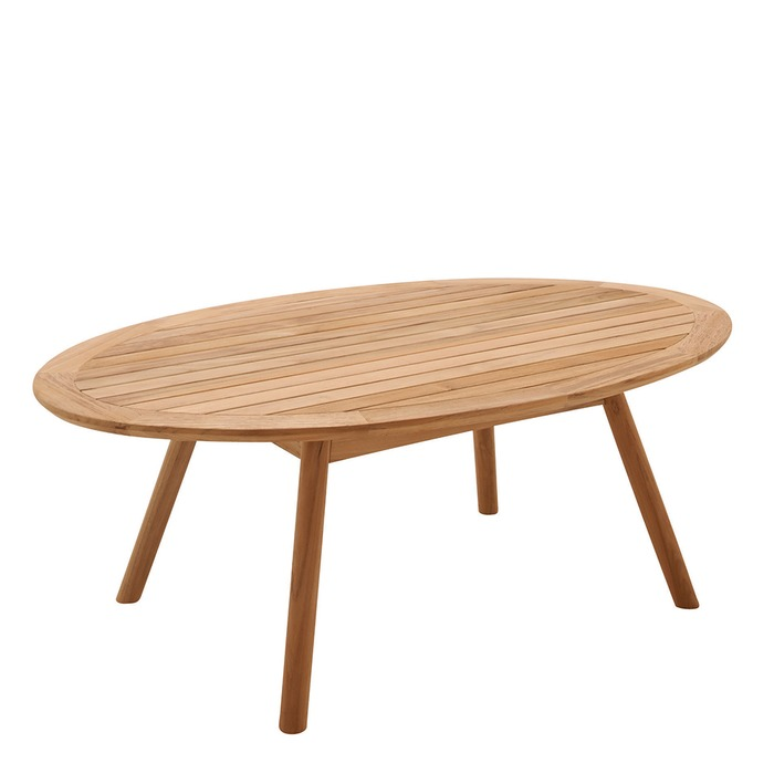 Teak Oval Coffee Table: Available At Brooks & Collier
