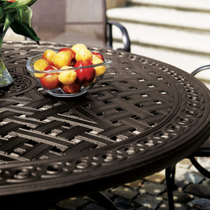 Brooks & Collier, Tropitone Cast Garden Terrace Tables