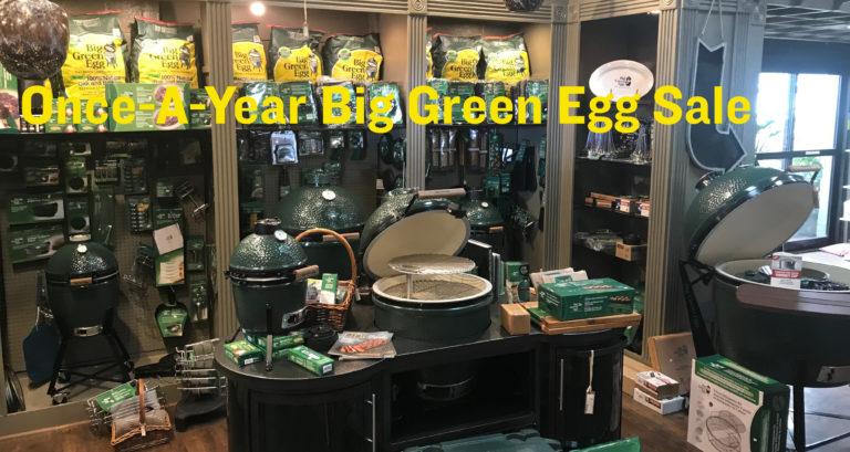 Brooks & Collier, Big Green Egg Sale