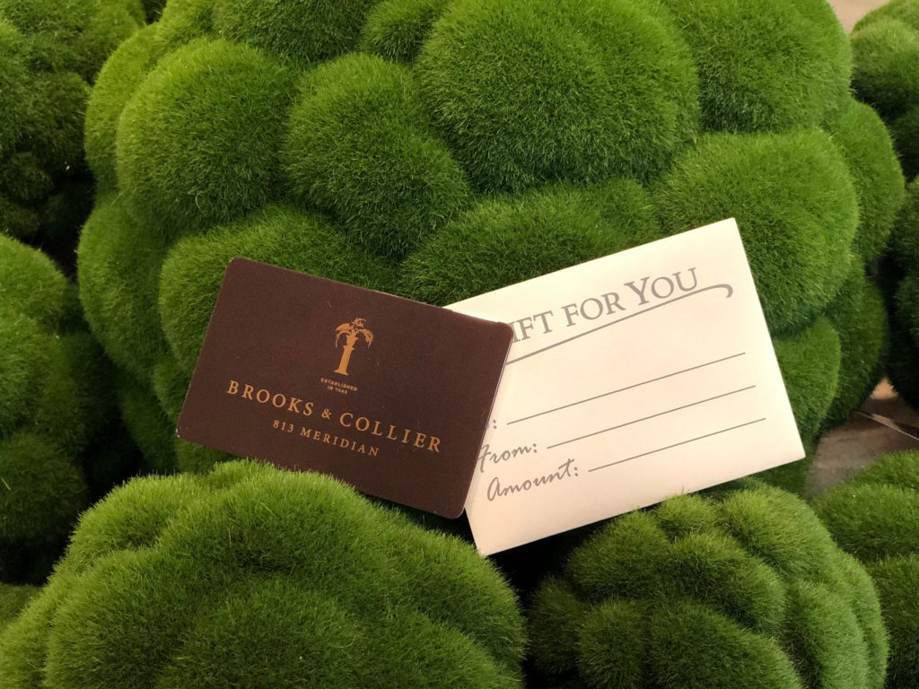 Brooks & Collier, Gift Cards